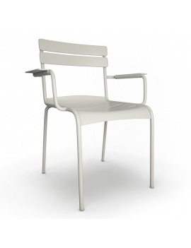 outdoor-metallic-furniture-collection-3d-models-armchair-luxembourg