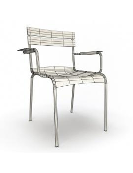 collection-3d-de-mobilier-d-exterieur-en-metal-modele-3d-fauteuil-luxembourg-filaire