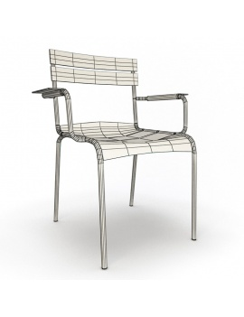 outdoor-metallic-furniture-collection-3d-models-armchair-luxembourg-wireframe