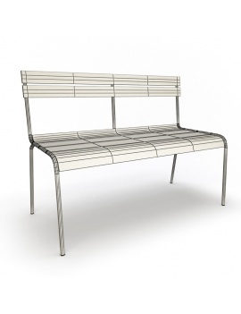 outdoor-metallic-furniture-collection-3d-models-bench-luxembourg-wireframe