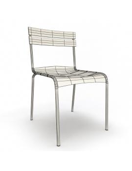 collection-3d-de-mobilier-d-exterieur-en-metal-modele-3d-chaise-luxembourg-filaire