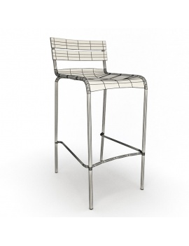 outdoor-metallic-furniture-collection-3d-models-stool-luxembourg-wireframe
