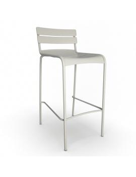 collection-3d-de-mobilier-d-exterieur-en-metal-modele-3d-tabouret-luxembourg