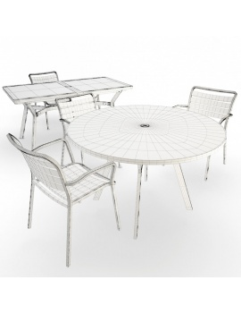 outdoor-metallic-furniture-collection-3d-models-table-and-chair-ocean-wireframe