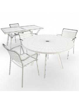 collection-3d-de-mobilier-d-exterieur-en-metal-modele-3d-table-chaise-ocean-filaire