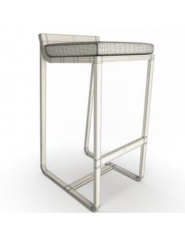 collection-3d-de-mobilier-d-exterieur-en-metal-modele-3d-tabouret-sit-filaire