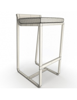 outdoor-metallic-furniture-collection-3d-models-stool-sit-wireframe