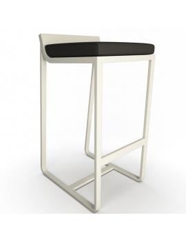 collection-3d-de-mobilier-d-exterieur-en-metal-modele-3d-tabouret-sit