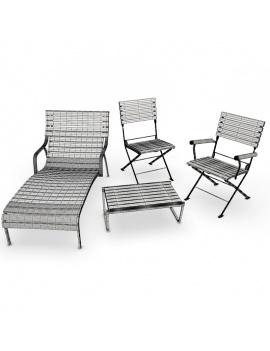 collection-3d-de-mobilier-d-exterieur-en-metal-modele-3d-equinox-filaire