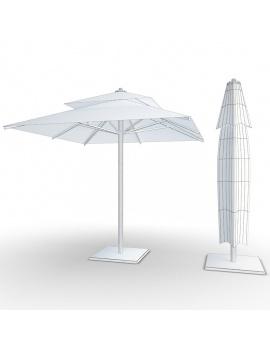 collection-3d-de-mobilier-d-exterieur-en-metal-modele-3d-parasol-01-filaire