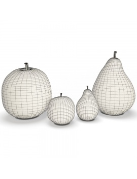 sculpture-collection-3d-models-apple-and-pear-wireframe