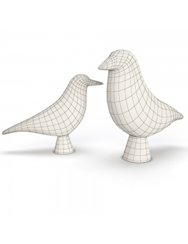 sculpture-collection-3d-models-bird-wireframe