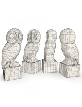 sculpture-collection-3d-models-bubo-wireframe