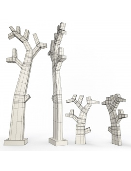 sculpture-collection-3d-models-gingko-wireframe