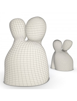 sculpture-collection-3d-models-love-wireframe