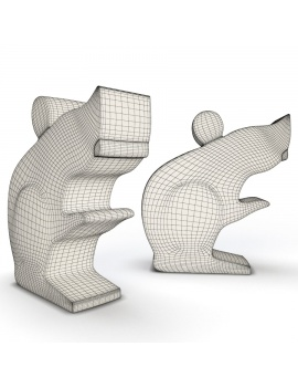 sculpture-collection-3d-models-mouse-wireframe