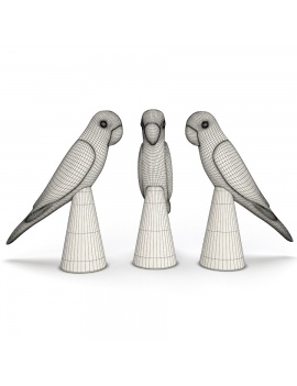 sculpture-collection-3d-models-parrot-wireframe