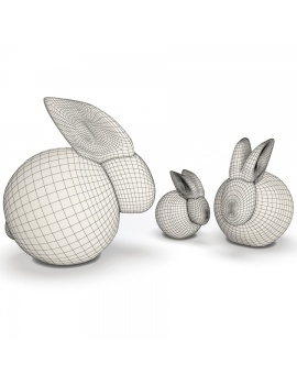sculpture-collection-3d-models-rabbit-wireframe