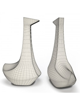 sculpture-collection-3d-models-swan-wireframe