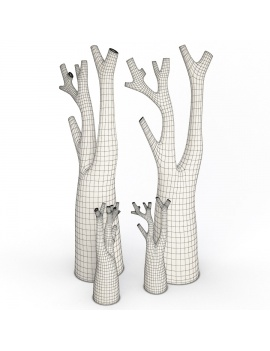 sculpture-collection-3d-models-tree-wireframe