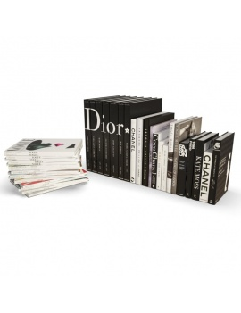 books-collection-3d-models-mode