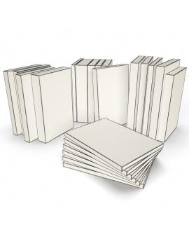 books-collection-3d-models-pocket-wireframe