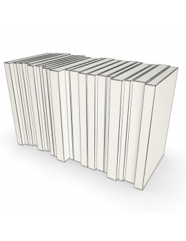 books-collection-opened-and-closed-3d-pocket-classic-wireframe