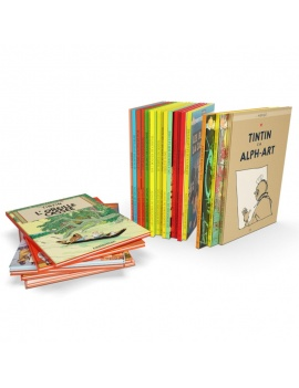 books-collection-opened-and-closed-3d-tintin-comics