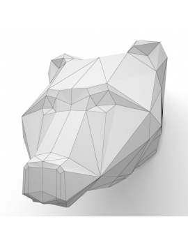 origami-paper-sculpture-collection-3d-models-bear-wireframe