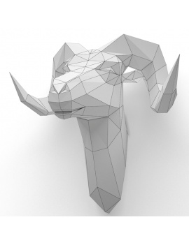 origami-paper-sculpture-collection-3d-models-bighorn-sheap-wireframe