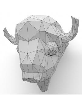 origami-paper-sculpture-collection-3d-models-bison-wireframe