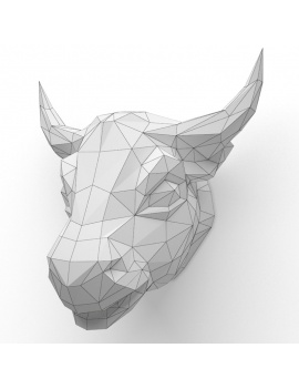origami-paper-sculpture-collection-3d-models-bull-wireframe