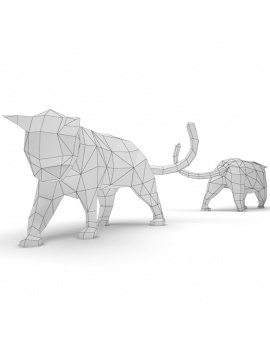 origami-paper-sculpture-collection-3d-models-cat-wireframe