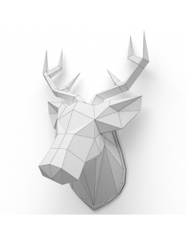 origami-paper-sculpture-collection-3d-models-deer-wireframe