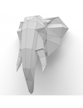 origami-paper-sculpture-collection-3d-models-elephant-wireframe