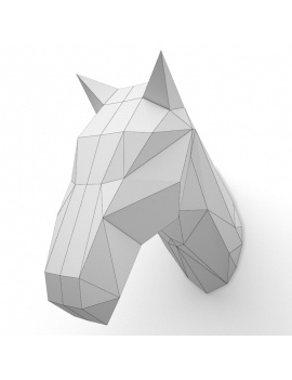 origami-paper-sculpture-collection-3d-models-horse-wireframe