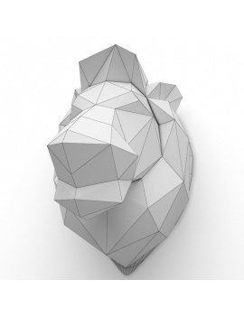 origami-paper-sculpture-collection-3d-models-lion-wireframe