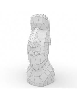 origami-paper-sculpture-collection-3d-models-moai-wireframe
