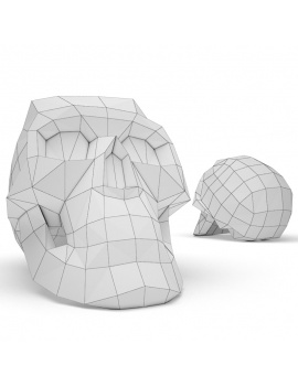 origami-paper-sculpture-collection-3d-models-skull-wireframe