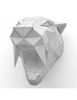 origami-paper-sculpture-collection-3d-models-tiger-wireframe