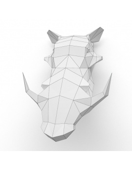 origami-paper-sculpture-collection-3d-models-wart-hog-wireframe