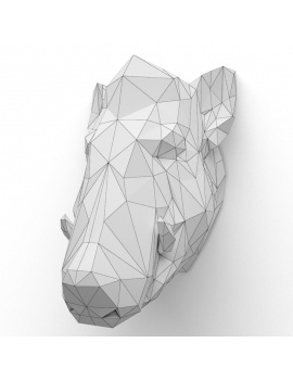 origami-paper-sculpture-collection-3d-models-wart-hog-02-wireframe
