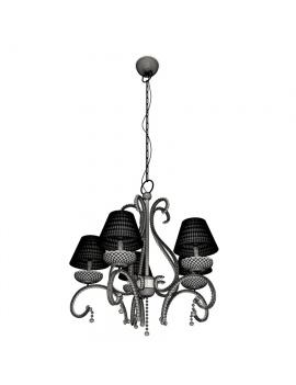 amenagement-de-casino-de-jeux-luminaire-suspension-classique-5-bras-filaire