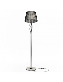 casino-machine-and-lighting-collection-3d-models-floor-lamp-classic-wireframe