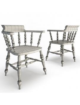 classic-bar-wooden-furniture-3d-armchair