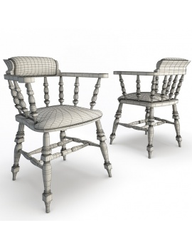 classic-bar-wooden-furniture-3d-armchair-leather-wireframe