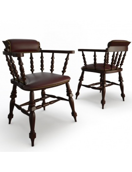 classic-bar-wooden-furniture-3d-armchair-leather