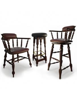 mobilier-de-bar-en-bois-3d