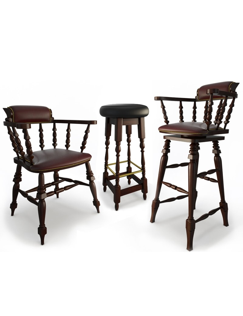 Classic bar furniture 3d models for download in max 2014 and obj