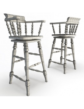 classic-bar-wooden-furniture-3d-barstool-wireframe